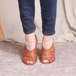 Aldo Open Toe Leather Heel